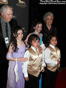 "Kenny Roger's children on the red carpet for ""Kenny Rogers the First 50 Years"" Television Special at The MGM Grand Theate rin Mashantucket, CT on April 10, 2010."