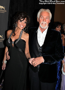 "Kenny Rogers & his family on the red carpet for ""Kenny Rogers the First 50 Years"" Television Special at The MGM Grand Theate rin Mashantucket, CT on April 10, 2010."