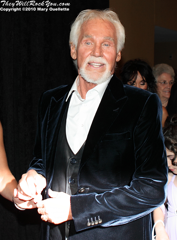 "Kenny Rogers on the red carpet for ""Kenny Rogers the First 50 Years"" Television Special at The MGM Grand Theate rin Mashantucket, CT on April 10, 2010."