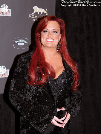 "Wynonna Judd on the red carpet for ""Kenny Rogers the First 50 Years"" Television Special at The MGM Grand Theate rin Mashantucket, CT on April 10, 2010."