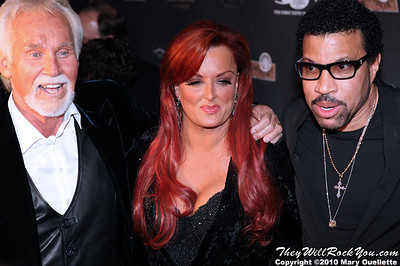 "Kenny Rogers, Wynonna Judd & Lionel Richie on the red carpet for ""Kenny Rogers the First 50 Years"" Television Special at The MGM Grand Theate rin Mashantucket, CT on April 10, 2010."