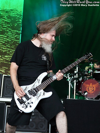 Lamb of God performing at Mayhem Fest on July 27, 2010 at the Comcast Center in Mansifeld, MA.