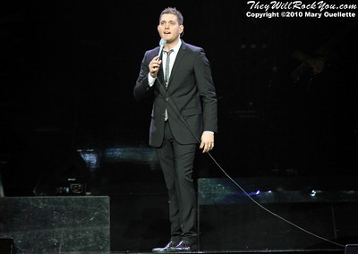 "Michael Bublé performs on November 27, 2010 in support of ""Crazy Love"" at the TD Garden in Boston, Massachusetts"