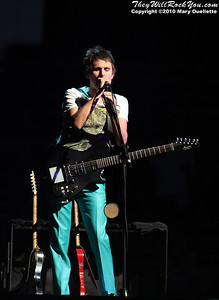 Matt Bellamy of Muse performs at the TD Garden on March 6, 2010 in Boston, Massachusetts