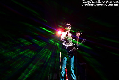 Matt Bellamy of Muse performs at the TD Garden on March 6, 2010 in Boston, Massachusetts