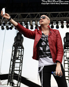 Neon Trees perform at The Beale Street Music Festival in Memphis, TN on April 30, 2010