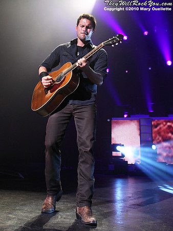 Nickelback performs at the Comcast Center in Mansfield, MA on September 24, 2010.