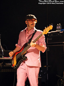 Tim Nordwind pf OK Go performs at Pearl Street Night Club in Northampton, MA on April 27, 2010.