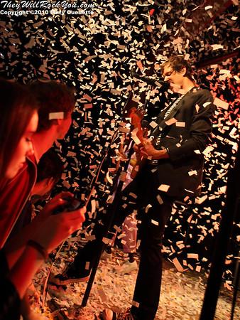 OK Go perform at Pearl Street Night Club in Northampton, MA on April 27, 2010.