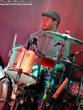 Dan Konopka of OK Go performs at Pearl Street Night Club in Northampton, MA on April 27, 2010.