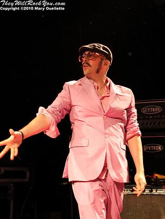 Tim Nordwind pf OK Go performs at Pearl Street Night Club in Northampton, MA on April 27, 2010.