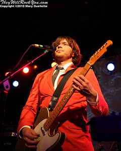 Andy Ross of OK Go performs at Pearl Street Night Club in Northampton, MA on April 27, 2010.