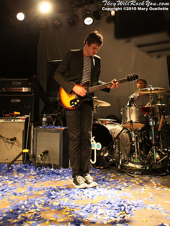Damian Kulash of OK Go performs at Pearl Street Night Club in Northampton, MA on April 27, 2010.