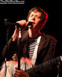 Damian Kulash of OK Go performs at Pearl Street Night Club in Northampton, MA on April 27, 2010.