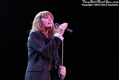 Pat Benetar performs at the Bank of America Pavilion on August 29, 2010 in Boston, MA