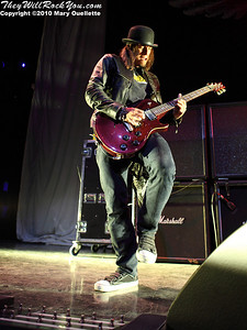 Paul Phillips of Puddle of Mudd performs at The House of Blues on January 26, 2010 in Boston, MA