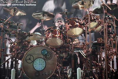 (This was pretty much my only sight line for Neil, sorry guys!) Rush performs at Mohegan Sun Arena on July 19, 2010 in Uncasville, CT. ©2010 Mary Ouellette
