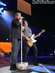 Rascal Flatts perform at Mohegan Sun Arena on January 15, 2010 in Uncasville, CT