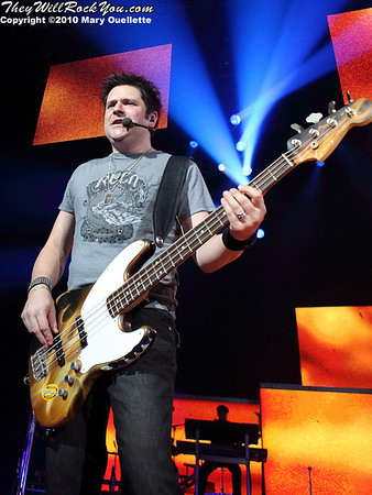 Jay DeMarcus of Rascal Flatts perform at Mohegan Sun Arena on January 15, 2010 in Uncasville, CT