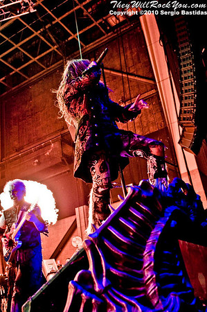 Rob Zombie performs live on the main stage at The Mayhem Fest in San Bernardino, Calif. on Saturday night, July 10, 2010. (Photo by Sergio Bastidas/Sini69 Photography, ©2010)