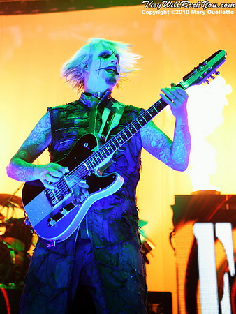 "John 5 of Rob Zombie performs on October 16, 2010 on the ""Halloween Hootenany Tour"" stop at the DCU Center in Worcester, Massachusetts."
