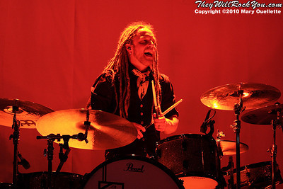 Barry Kerch of Shinedown performs at The House of Blues, January 26, 2010, in Boston, MA