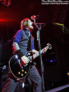 Zach Myers of Shinedown performs at The House of Blues, January 26, 2010, in Boston, MA