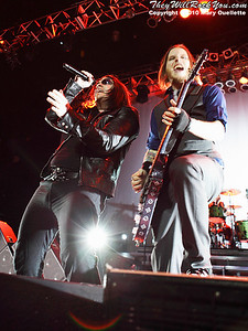 Brent Smith and Zach Myers of Shinedown perform at The House of Blues, January 26, 2010, in Boston, MA