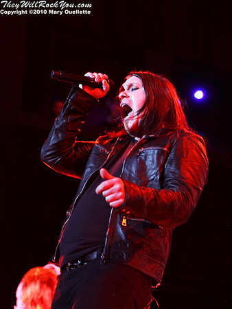Brent Smith of Shinedown performs at The House of Blues, January 26, 2010, in Boston, MA