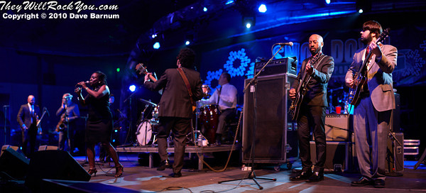 Sharon Jones and the Dap-Kings perform at snoe.down 2010.  Photo by:  Dave Barnum
