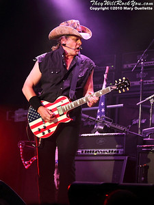 Ted Nugent performs on June 18, 2010 at the Casino Ballroom in Hampton Beach, NH.