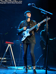 Sara of Tegan and Sara performs on July 30, 2010 during Lilith Fair at the Comcast Center in Mansfield, Massachusetts.