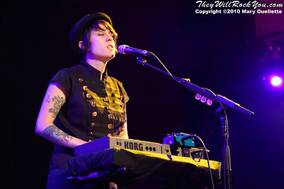 Tegan of Tegan and Sara performs on July 30, 2010 during Lilith Fair at the Comcast Center in Mansfield, Massachusetts.