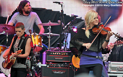 Dixie Chicks perform at Gillette Stadium in Foxboro, MA on June 12, 2010.