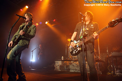 John Rzeznik & Robby Takac of The Goo Goo Dolls performing at The Casino Ballroom in Hampton Beach, New Hampshire on April 15, 2010