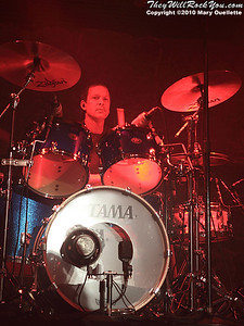 Mike Malinin of The Goo Goo Dolls performing at The Casino Ballroom in Hampton Beach, New Hampshire on April 15, 2010