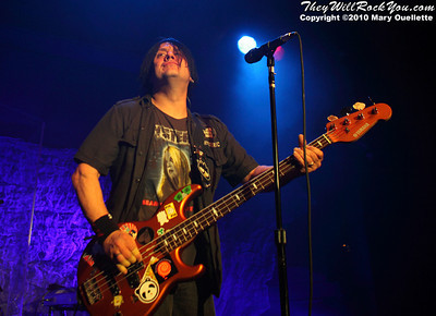 Robby Takac of The Goo Goo Dolls performing at The Casino Ballroom in Hampton Beach, New Hampshire on April 15, 2010