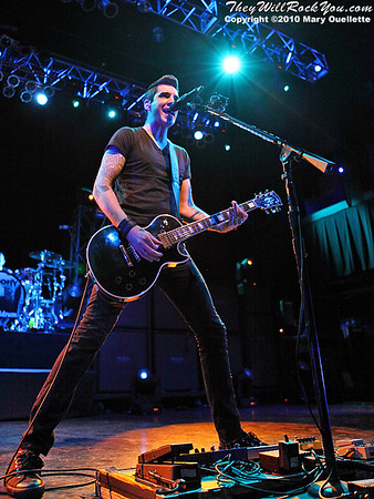 Theory of a Deadman perform at the House of Blues on January 31, 2010 in Boston, MA