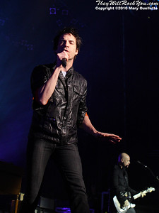 "Train perform in support of their latest release ""Save Me, San Francisco"" at the Calvin Theater on March 14, 2010 in Northampton, Massachusetts"