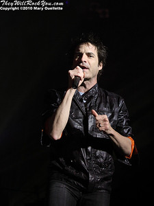 """Train perform in support of their latest release """"Save Me, San Francisco"""" at the Calvin Theater on March 14, 2010 in Northampton, Massachusetts"""