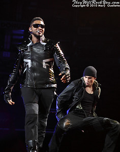 Usher performs on December 21, 2010 at the TD Garden in Boston, MA