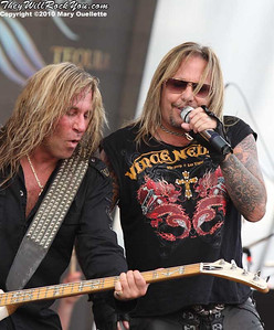 Vince Neil and his band perform at The Beale Street Music Festival in Memphis, TN on May 2, 2010.