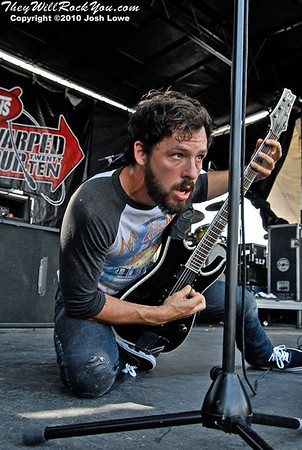 The Dillinger Escape Plan at the Mansfield, MA Warped tour stop.