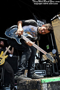 The Dillinger Escape Plan at the Hartford, CT Warped Tour Stop.