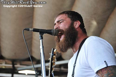 Four Year Strong perform at Warped Tour 2010 in Darien Center, NY.