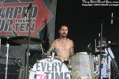 Every Time I Die perform at the Camden, NJ Warped Tour Stop.