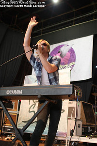 The Rocket Summer performing at the Warped Tour stop in Columbia, MD.