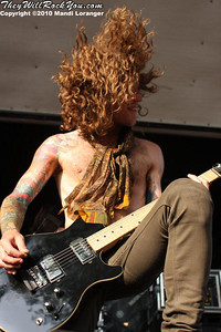 Mayday Parade performing at the Warped Tour stop in Columbia, MD.
