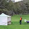 The Nungar Plain-gaine, ACT Championships, 8/24 hour, 23-24/10/10<br /> Hash House site on private property near Adaminaby<br /> John near the admin tent, registration