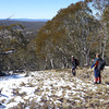 Rogaine course setting, Tantangara Dam area, NSW, 11/9/10<br /> Team Dan Clark, Matilda and Cam, western edge of course<br /> Dan and Cam